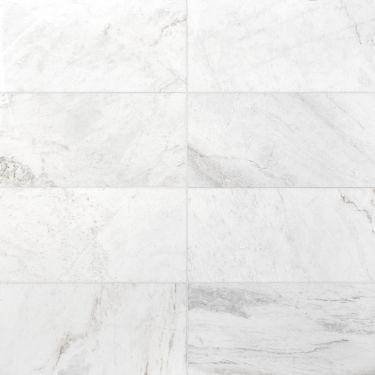 Alaska White 12x24 Honed Marble Tile