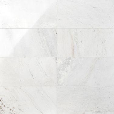 Alaska White 12x24 Polished Marble Tile