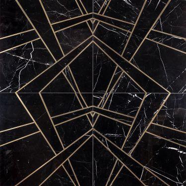 Waterjet Marble + Metal Tile for Backsplash,Kitchen Floor,Kitchen Wall,Bathroom Floor,Bathroom Wall,Commercial Floor