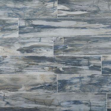Petrawood Blue 8x48 Matte Porcelain Tile
