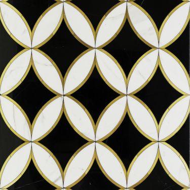 Decorative Marble + Metal Tile for Backsplash,Kitchen Wall,Bathroom Wall