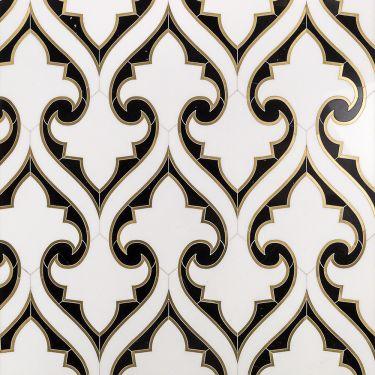 Waterjet Marble + Metal Tile for Backsplash,Kitchen Wall,Bathroom Wall