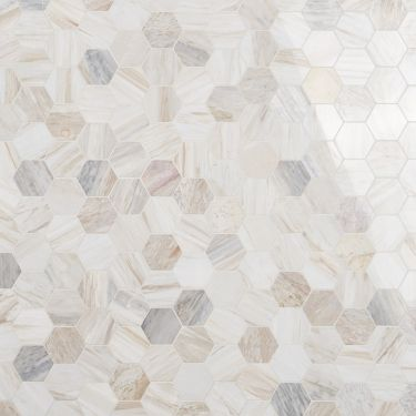 "Sabbia Marble 4"" Hex Polished Mosaic"