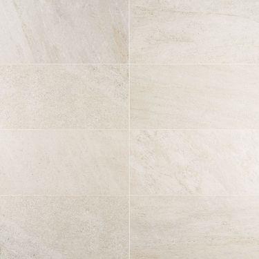FusionTech Miami White 12x24 Matte Porcelain Tile