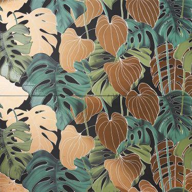 Tropez Foliage Oro 24x48 Polished Porcelain Tile