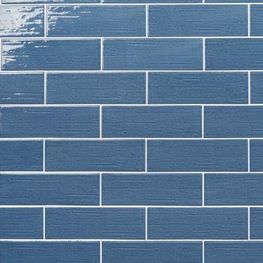 Kiln Blue 3x9 Polished Porcelain Tile