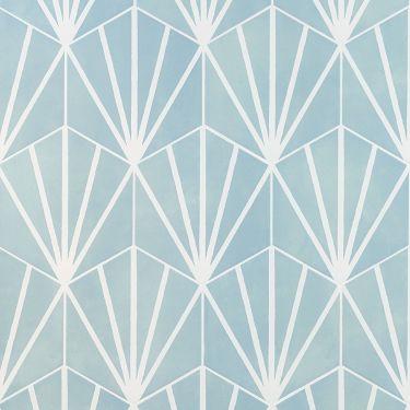 """HexArt Deco Turquoise 8"""" Hex Matte Porcelain Tile"""