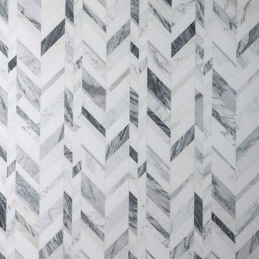 Amari Grigio Polished Marble and Aluminum