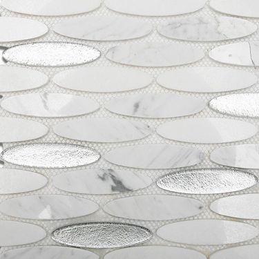 Marble + Glass Tile for Backsplash,Kitchen Floor,Bathroom Floor,Kitchen Wall,Bathroom Wall,Shower Wall
