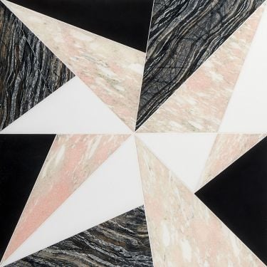 Jagger Rose Multicolor Marble Mosaic