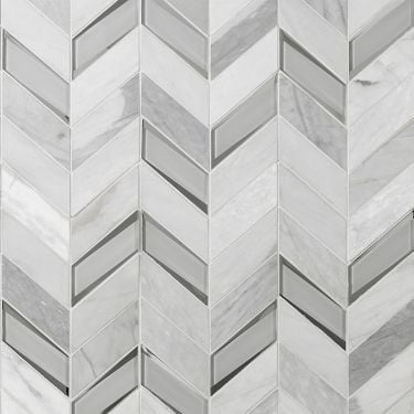 Kasol Dove Marble and Mirror Mosaic