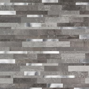 Metalway Cement Gray Solid Core Peel & Stick Mosaic Tile
