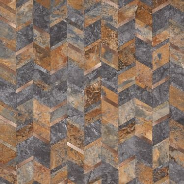 Tether Slate Solid Core Peel & Stick Mosaic Tile