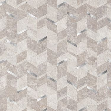 Tether Silver Solid Core Peel & Stick Mosaic Tile