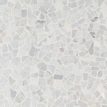 Nature Tumbled Pebble Carrara Mosaic