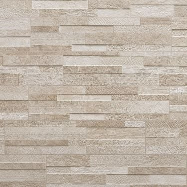 Lodge Stone 3D Beige 6x24 Textured Porcelain Wall Tile