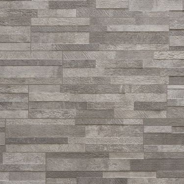 Lodge Stone 3D Gray 6x24 Textured Porcelain Wall Tile