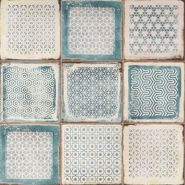 Los Lunas Deco Blue 8x8 Matte Porcelain