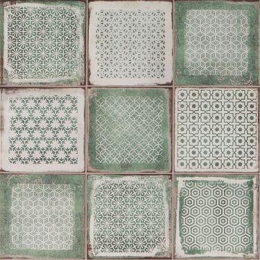 Los Lunas Deco Green 8x8 Matte  Porcelain