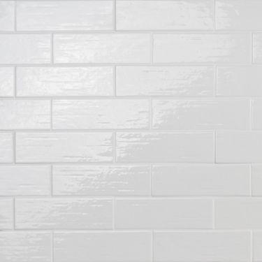 Kiln White 3x9 Polished Porcelain Tile