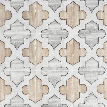 Alesso Deco Picos Beige 8x8 Matte Porcelain Tile
