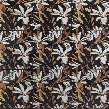 Icon Inspired by Iris Apfel Lily Auburn 8x8 Artisan Decor Porcelain