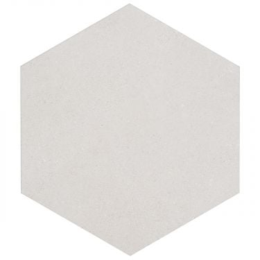"Pergola White 12.5"" Hex Matte Porcelain"