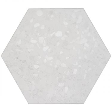 "Six Hexagon White 12.5"" Matte Porcelain"