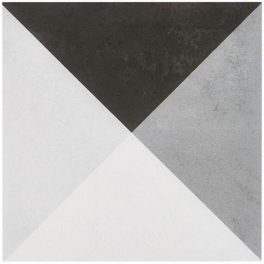 Art Geo Cement Deco Gray by Elizabeth Sutton 8x8 Matte Porcelain Tile