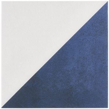 Art Geo Cement Dos Blue by Elizabeth Sutton 8x8 Matte Porcelain Tile