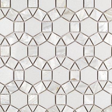 Waterjet Marble + Pearl Tile for Backsplash,Kitchen Floor,Kitchen Wall,Bathroom Floor,Bathroom Wall,Shower Wall