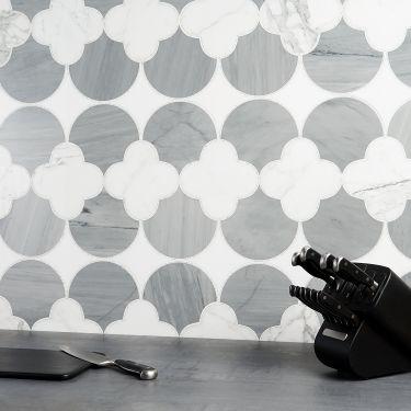 Waterjet Marble Tile for Backsplash,Kitchen Floor,Kitchen Wall,Bathroom Floor,Bathroom Wall,Shower Wall,Shower Floor,Outdoor Wall,Commercial Floor