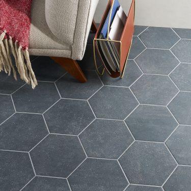 "Texstone Antracita 9"" Matte Porcelain Hexagon Tile"