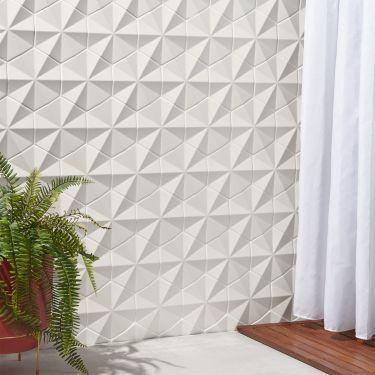 """Zeal Ogassian 3D 6"""" Hex White Matte Porcelain Tile"""