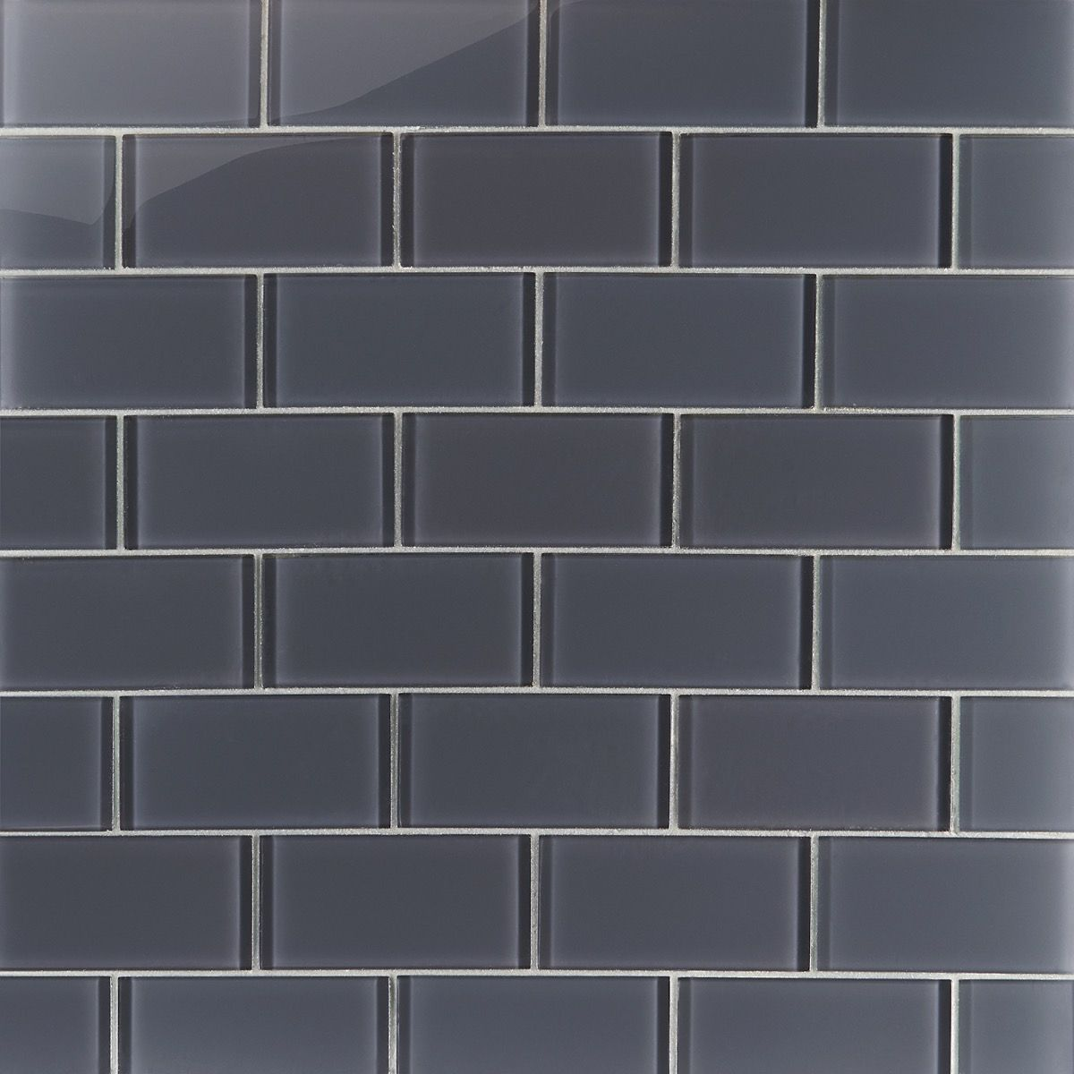 Loft Ash Gray 3x6 Polished Glass Tile