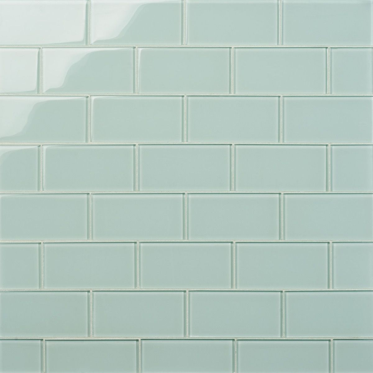Loft Spa Green 3x6 Polished Glass Tile