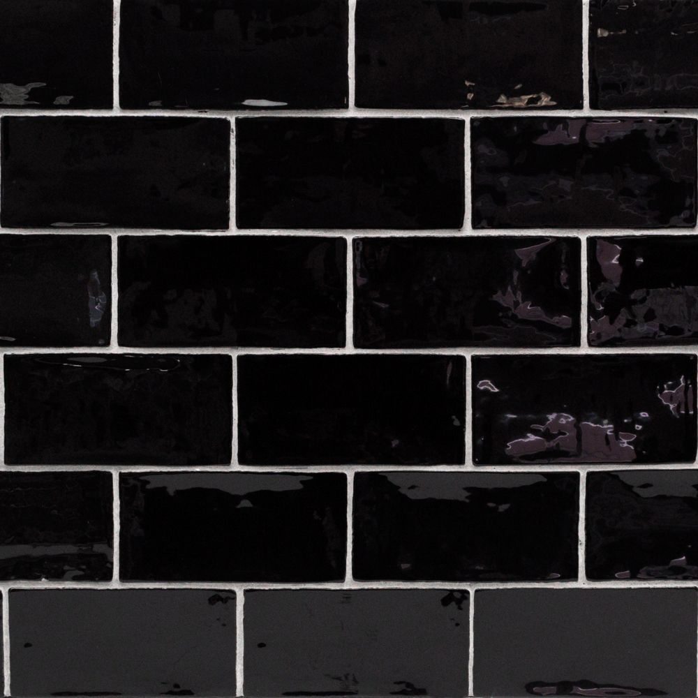 Lancaster Noir 3x6 Polished Ceramic Tile