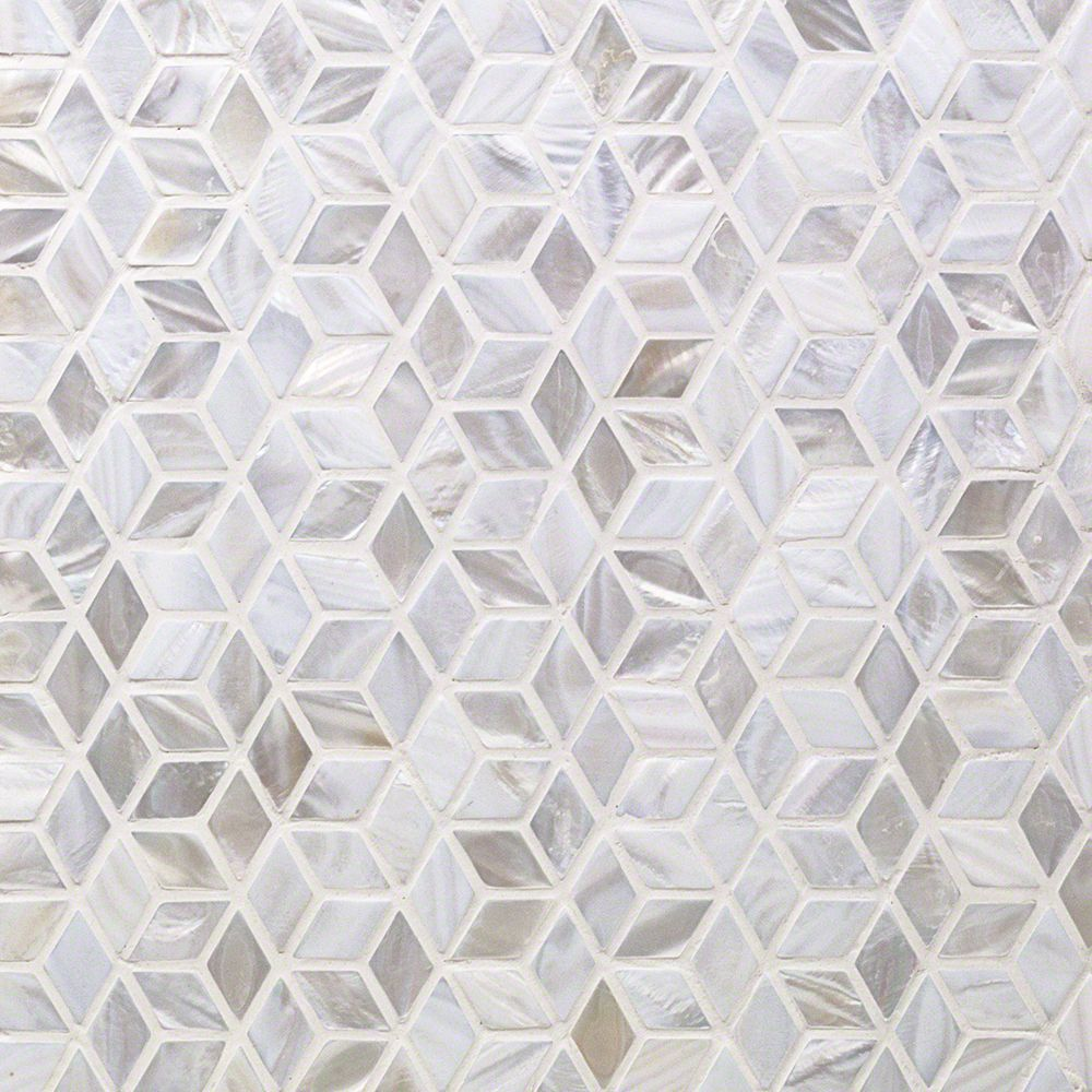 Oyster White Pearl Illusion Tile