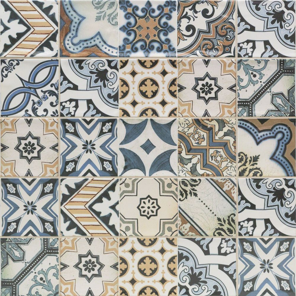 Santa Monica Warm Deco 4x12 Ceramic Tile