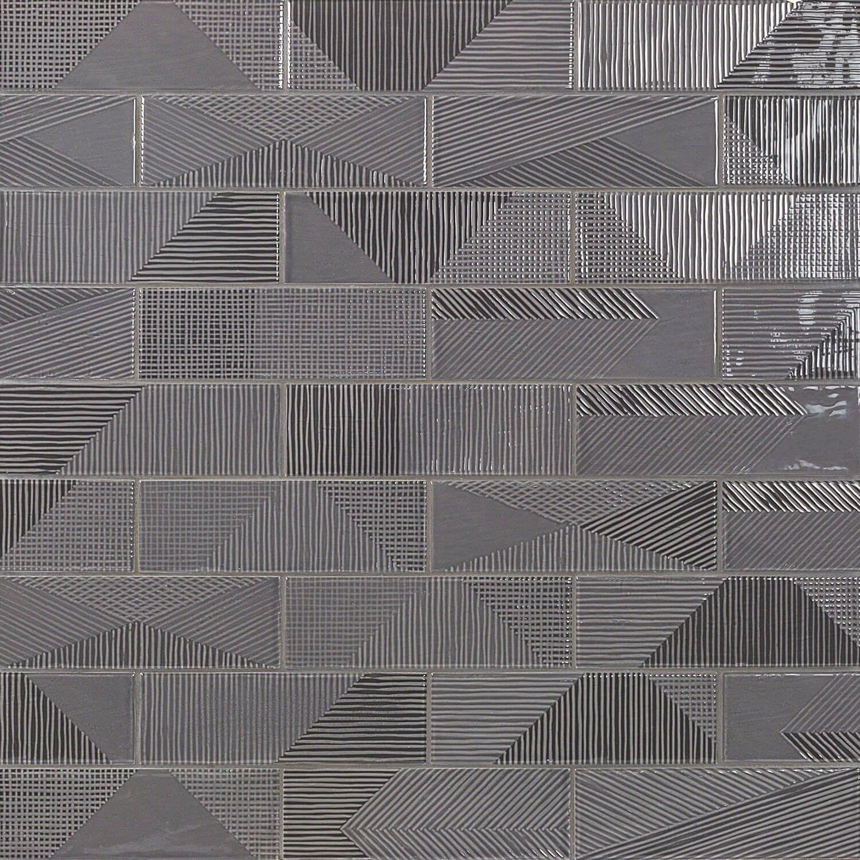Enigma Graphite 2x8 Polished Ceramic Tile