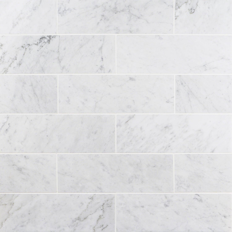Carrara 4x12 Polished Marble Tile
