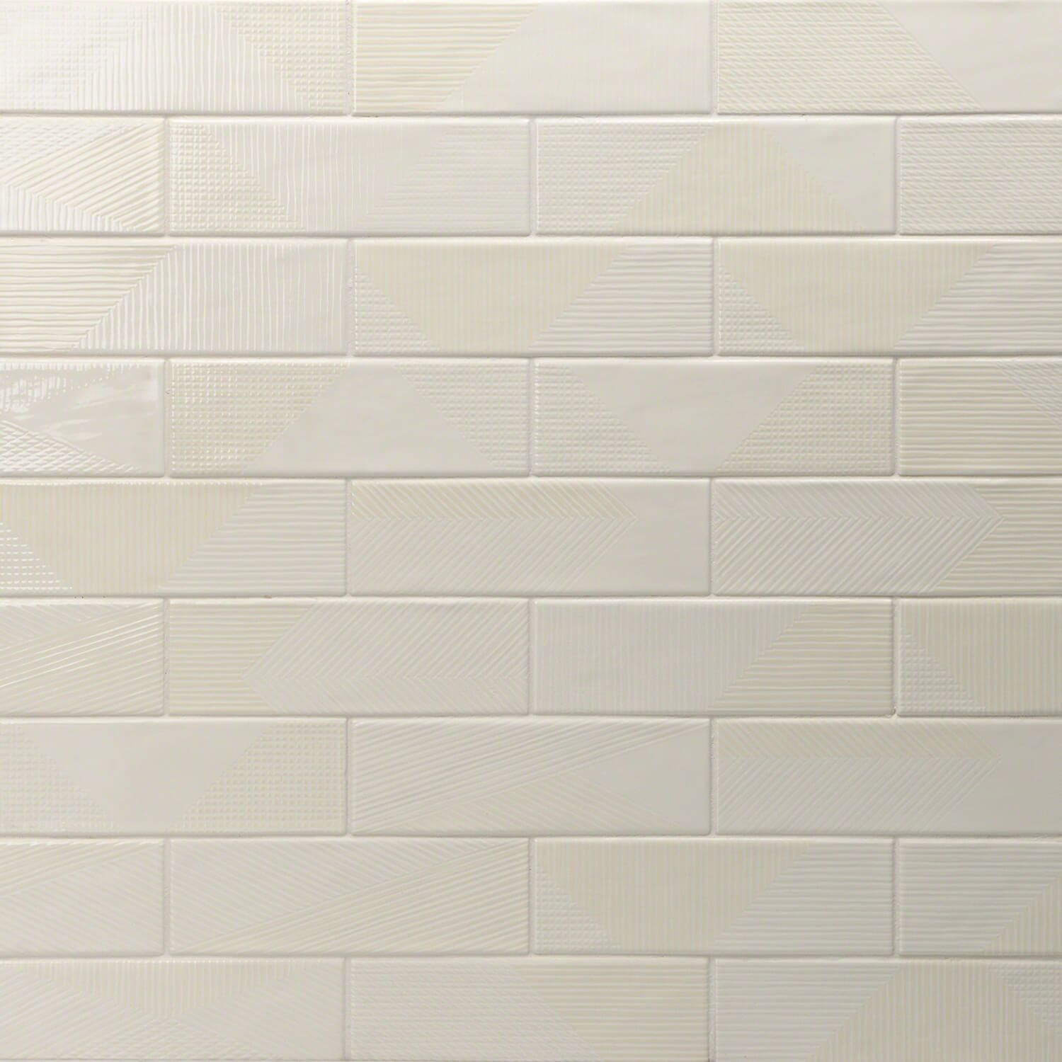 Enigma Ivory 2x8 Polished Ceramic Tile