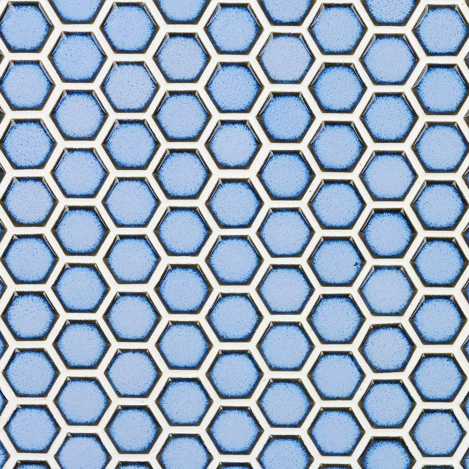 Eden Cloudy Sky Hexagon Polished Rimmed Ceramic Tile
