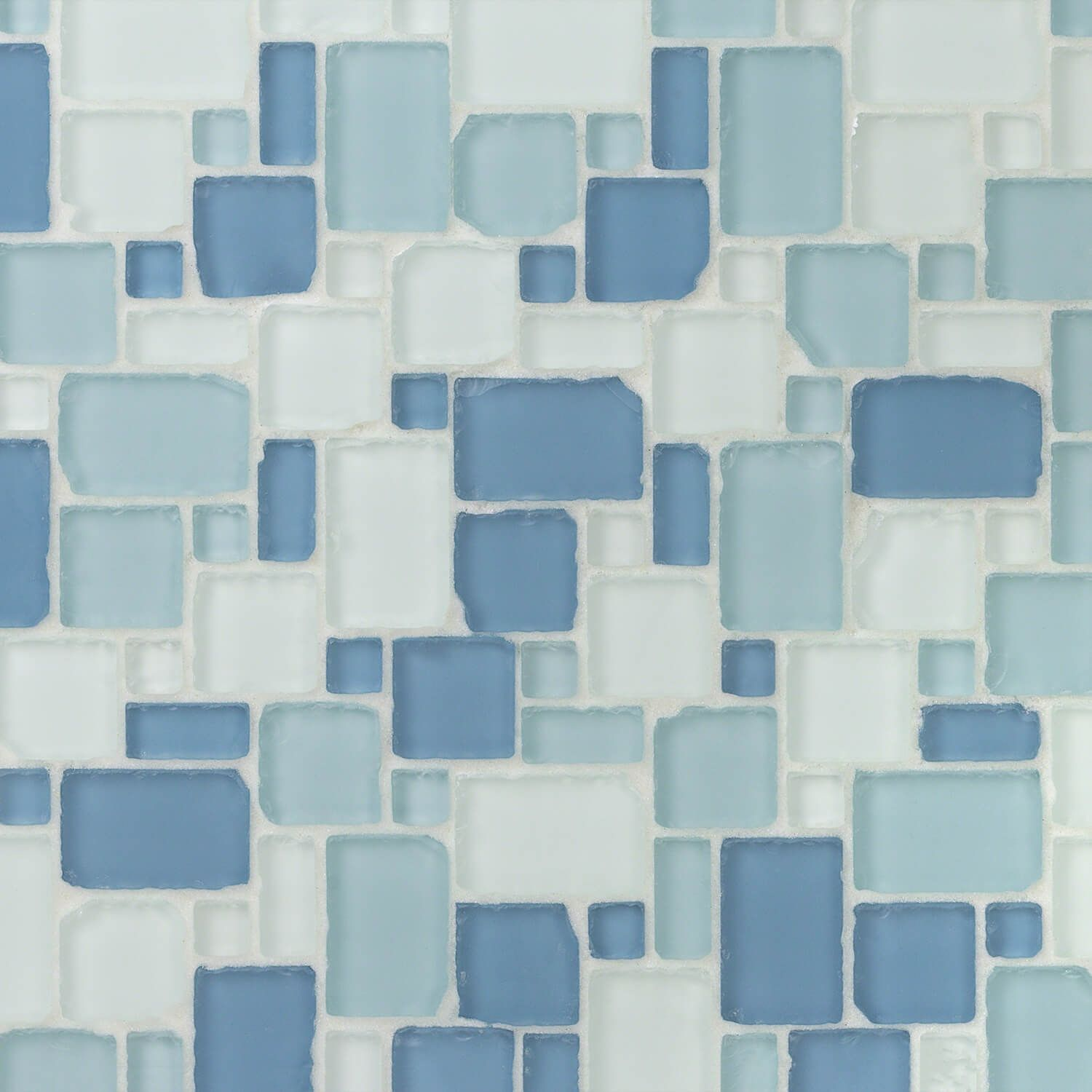 Coastal Seaside French Pattern Beached Frosted Glass Tile