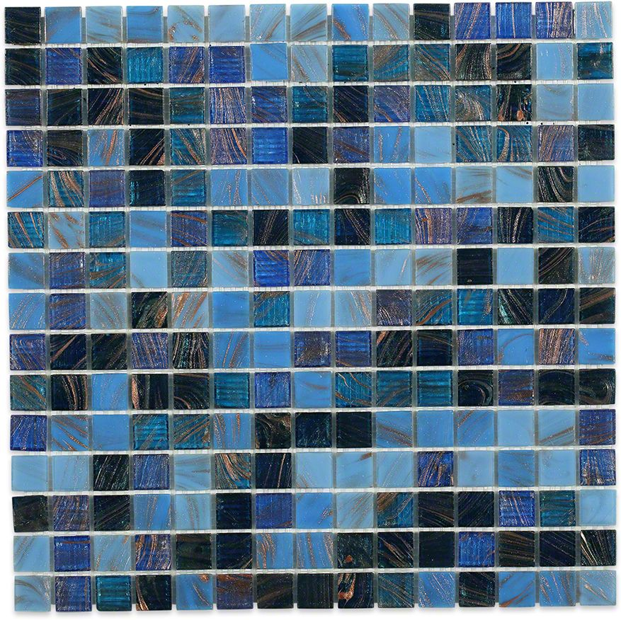 Lake Blue Glass Tile