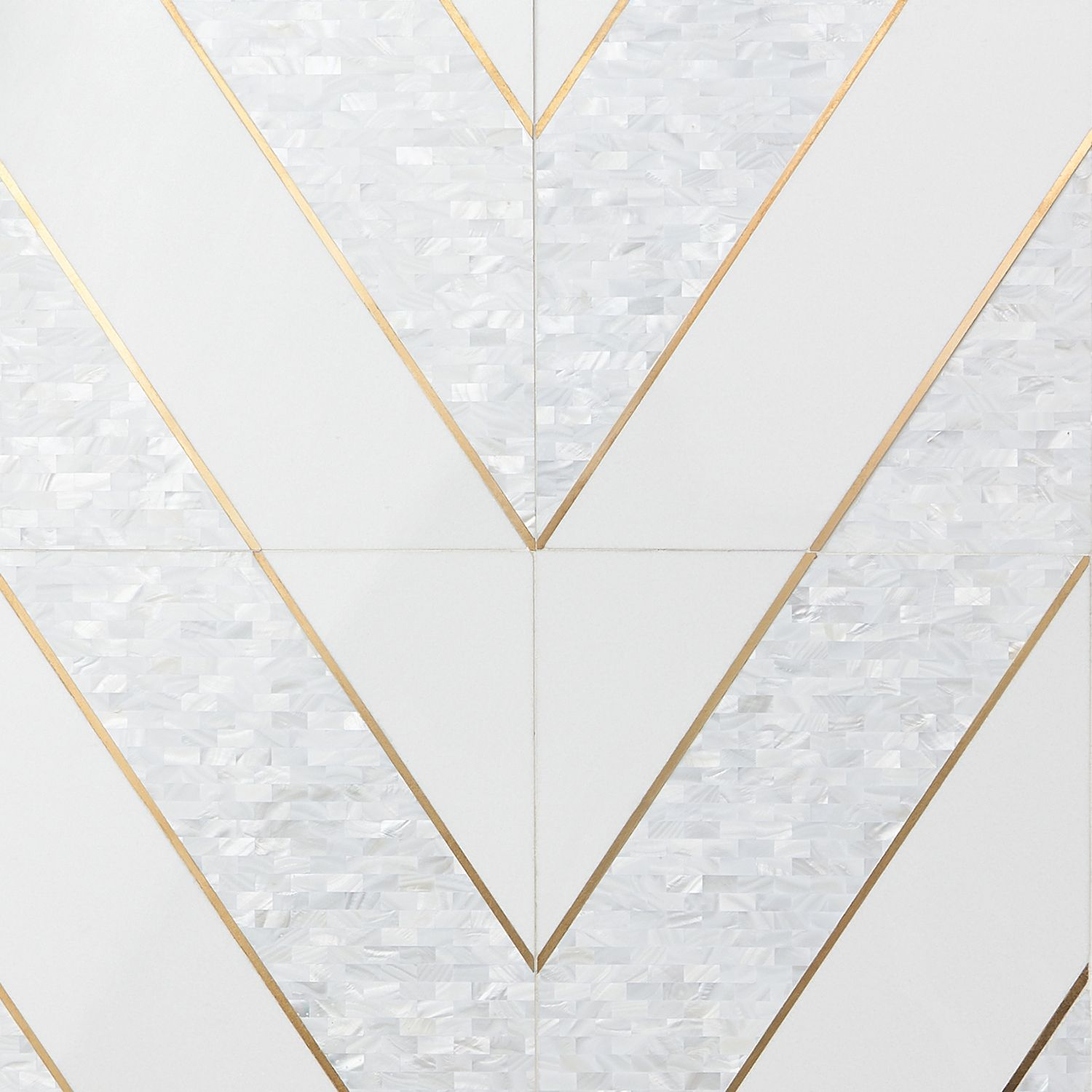 Timeless Perla Brass 12x18 Polished Tile By Elizabeth Sutton