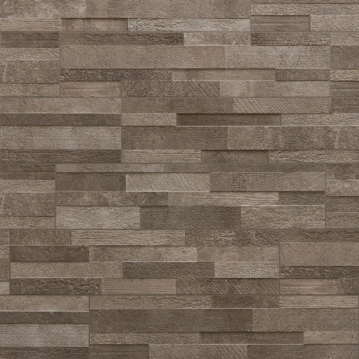 Lodge Stone 3D Taupe 6x24 Textured Porcelain Wall Tile