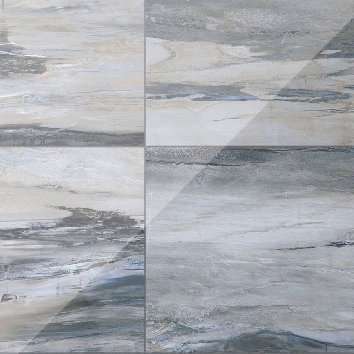 Petrawood Blue 12x24 Polished Porcelain Tile