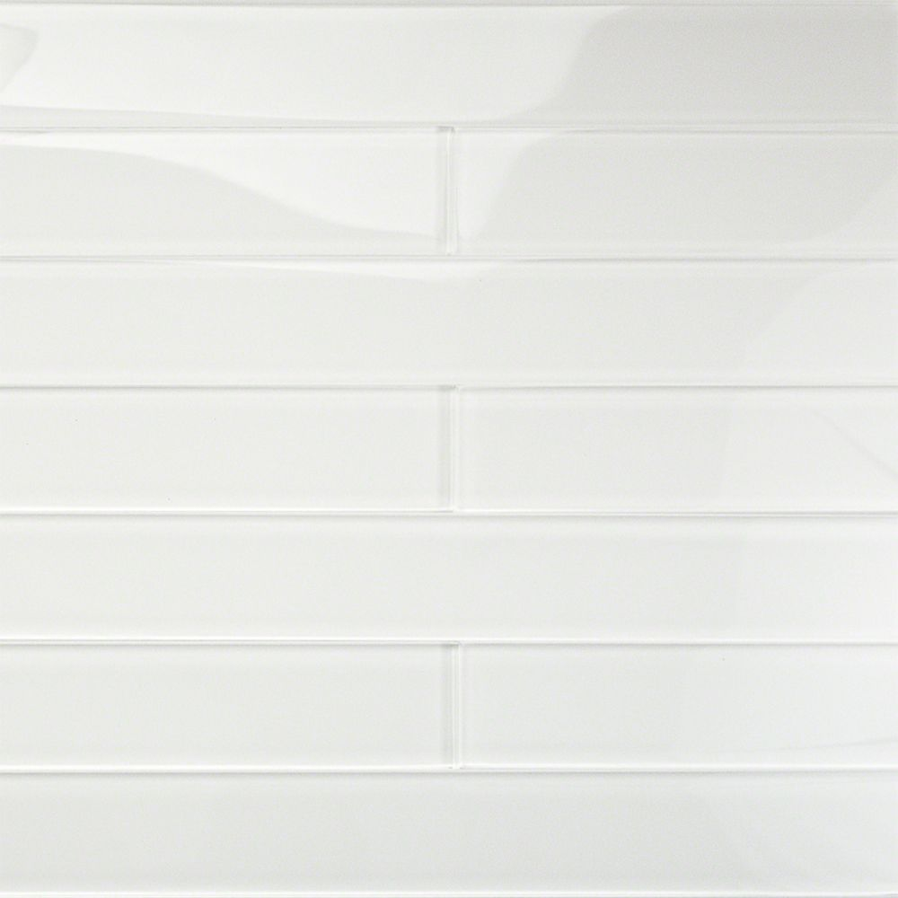 Loft Horizon Super White 2x16 Polished Glass Tile