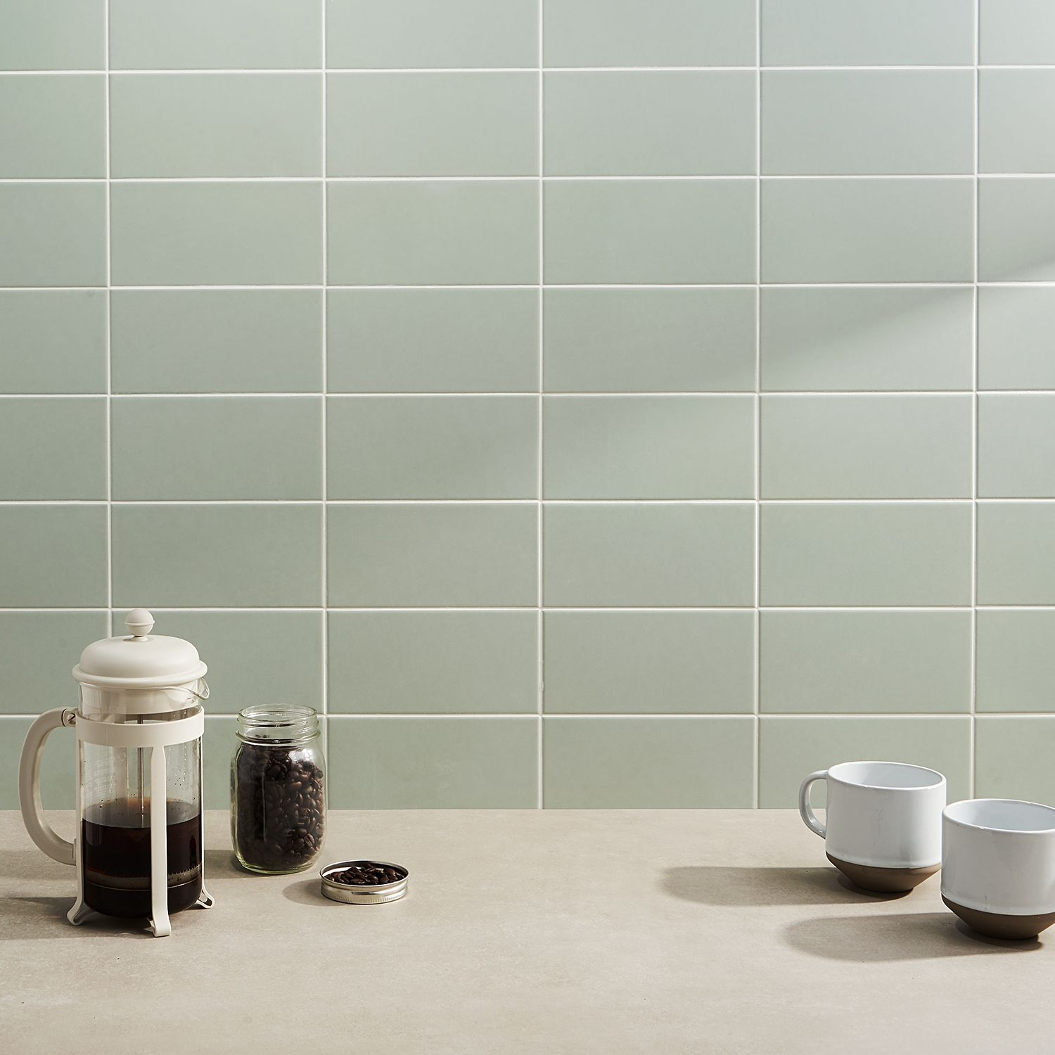 Stacy Garcia Maddox Mineral Green 4x8 Matte Ceramic Wall Tile